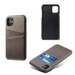 iPhone 12 Pro Slim Cover Wallet - Kortfack - Läder (Svart/Brun) Brun