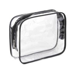 Necessär genomskinlig transparent sminkväska clear bag (Mellan)
