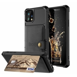 RFID skyddat kortskal-Extra förstärkt iPhone 12 Pro Max Svart