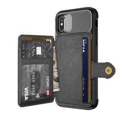 RFID skyddat kortskal-Extra förstärkt iPhone 7/8/X/Xs Max iPhone 7/8
