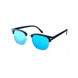 Solglasögon Clubmaster Classic (Svart med blå spegel)