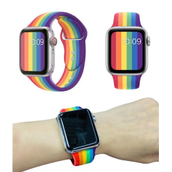Sportband - Watchband- Apple Watch - Pride - 38/40 mm (Regnbåge)