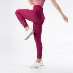 Yoga Pants - Tights - Gym - Träningskläder (Röd) M