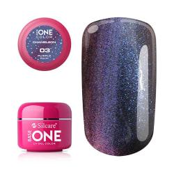 Base one - UV Gel - Chameleon - Purple Rain - 03 - 5 gram multifärg