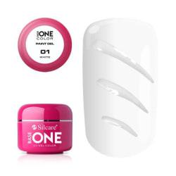 Base One - UV Gel - Paint Gel - White - 01 - 5 gram Vit