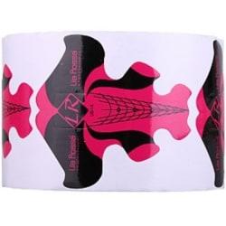 Nagelmallar - Röd / svart - Stiletto - 300 st multifärg