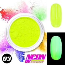 Neon pigment / pulver - Grön - 03