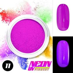 Neon pigment / pulver - Lila 11