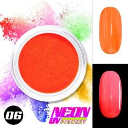 Neon pigment / pulver - Orange 06