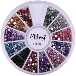 Rundel - Miley - C100 - Nageldekorationer - Ca: 500 st multifärg