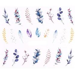 Vattendekaler - Växter - STZ-843 - För naglar multifärg