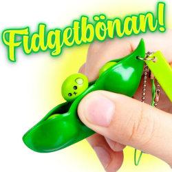 2st-gröna bönor, fidget leksaker, sensoriska ärtbönor,nyckelring grön 2
