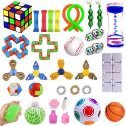 32st sensoriska fidget leksaker för barn och vuxna flerfärgad 32