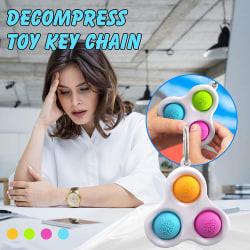 Fidget Toy för barn och vuxna, Pop it Keychain sensorisk leksak