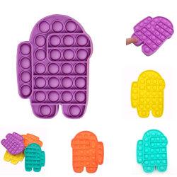 Pop It-Fidget Toy, Relax Antistress Sensorisk, Among Us, Purple lila