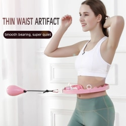 Viktad intelligent hulbåge, fitnessmassage, avtagbar rosa