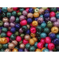 300st Knottriga Glaspärlor 4mm - Blandade Färger flerfärgad 4 mm