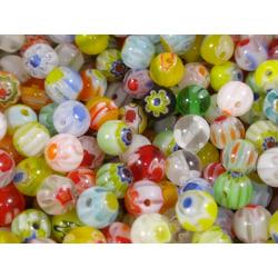 200st Lampwork Glaspärlor 4mm - Blandade Färger flerfärgad 4 mm
