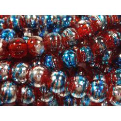 140st Drawbench Glaspärlor 6mm- Flerfärgade 6 mm