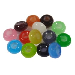 14st Berlocker till ormlänk- Cateye - Olika Färger flerfärgad