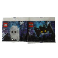 2 Påsar med Halloween Spöke & Fladdermus - Lego flerfärgad