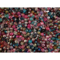 300st Drawbench Glaspärlor - Blandade Färger 4 mm