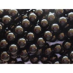 280st Vaxade Glaspärlor 6mm Svarta  svart 6 mm