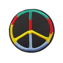 6st Tygmärken - Peace flerfärgad 72 mm