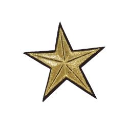 6st Tygmärken - Stjärna - Storlek 8,5cm guld 85 mm