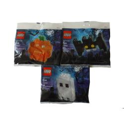 3 påsar med Halloween Spöke Fladdermus Pumpa Lego flerfärgad
