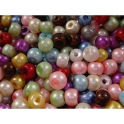 700st Matta Glaspärlor 4mm - Blandade Färger flerfärgad