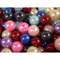 30st Vaxade Glaspärlor 10mm - Blandade Färger flerfärgad 10 mm