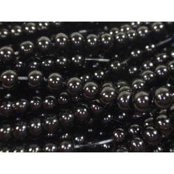 480st Vaxade Glaspärlor 3mm - Svarta svart 3 mm