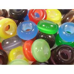 40st Berlocker till ormlänk- Cateye - Blandade Färger flerfärgad