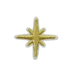 2st Tygmärken - Stjärna - Storlek 3,2cm guld