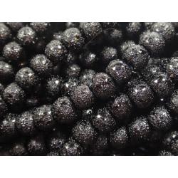 800st Stardust Glaspärlor 5x6mm Svarta svart 6 mm