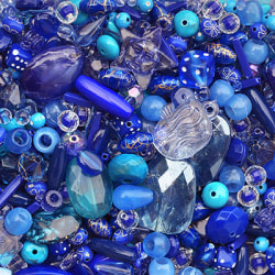 Akrylmix i blåa toner, 40g