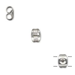 Bakstycken för öronstift, rostfritt kirurgiskt stål, 20st/100st