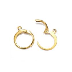 Brisyrkrokar av kirurgiskt stål, guldpläterade, 12x15mm, 2 par