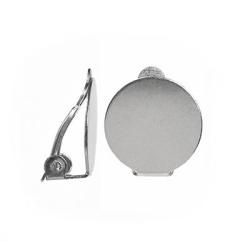 Clips med 14mm plattor, rostfritt kirurgiskt stål, 2 par