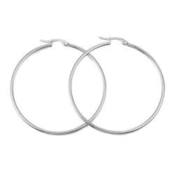 Creolörhängen, rostfritt kirurgiskt stål, 55mm, 1 par