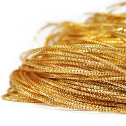 Fasetterad cannetille wire för pärlbroderier, 1-1,5mm grov, guld