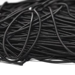 Mjuk cannetille wire för pärlbroderier, 1mm grov, svart, ca 35-4