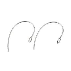 Öronkrokar av kirurgiskt stål, tvärvänd ögla, 15x25mm, 5 par