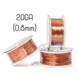Solid copper wire, 20GA (0,8mm grov)