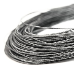 Styv cannetille wire för pärlbroderier, 1mm grov, antik silver,