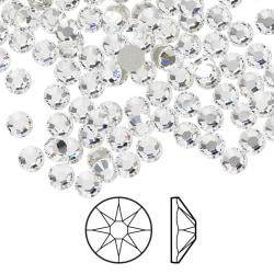 Swarovski flat back strass, 3.8-4mm, crystal clear, 10-pack