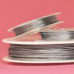 Tigertail, nylontäckt smyckeswire, 0.45mm, ca 10m