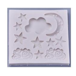 1 gjutform i silikon tema moln himmel