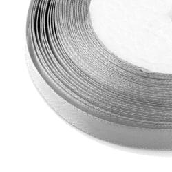 6 mm rulle sidenband fin silver färg 17 meter